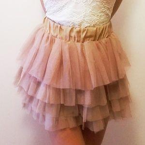 HALLOWEEN Gold swan lake champagne rose Tutu skirt